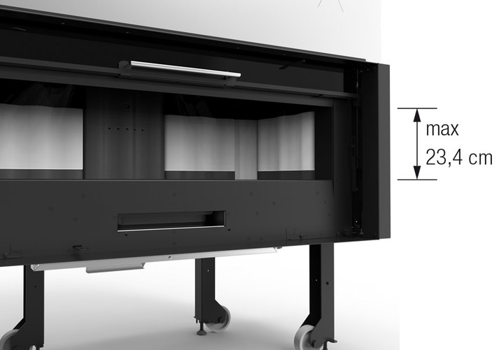La Nordica Monoblocco 1300 - Piano Crystal Wkład kominkowy Kominek