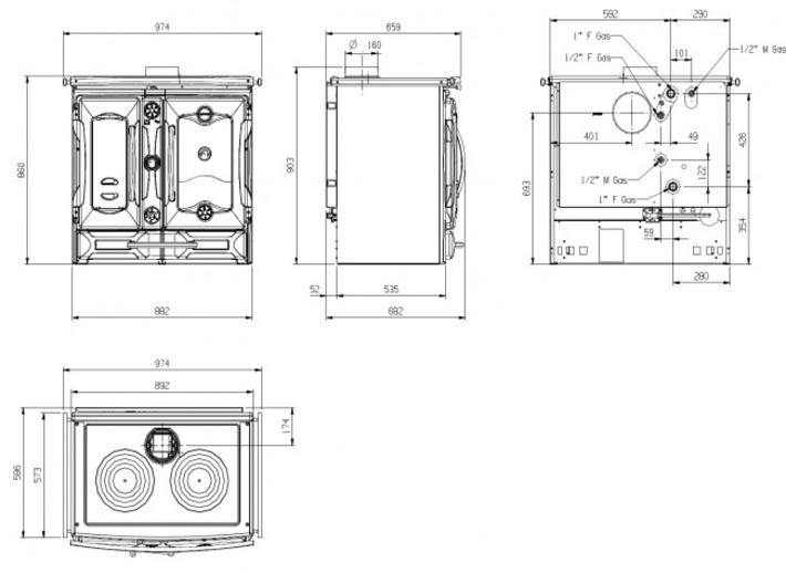 La Nordica TermoSuprema Compact DSA Piec kuchenny z płasczem wodnym