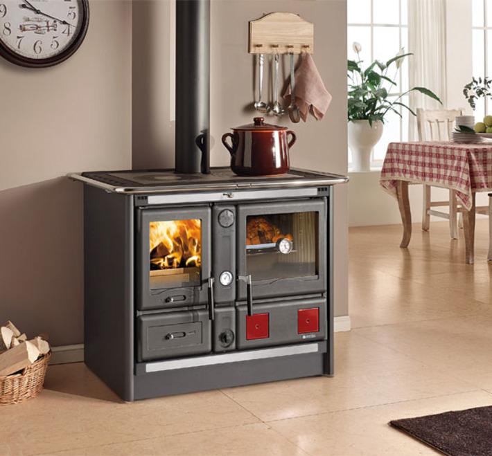 Piec kuchenny z p aszczem wodnym la nordica termorosa xxl for Forno a legna cucina moderna