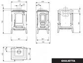 La Nordica Giulietta - Piec wolnostojący