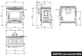 La Nordica Isotta con cerchi z płytą do gotowania - Piec kominkowy