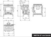 La Nordica Isetta Con Cerchi 4.0 Evo z płytą do gotowania Piec kominkowy
