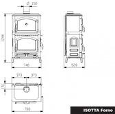 La Nordica Isotta Forno z piekarnikiem - Piec kominkowy