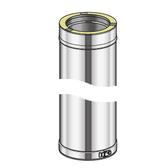 Poujoulat Element Prosty 1000mm (z 1 obejmą łączącą) fi 80mm