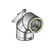 Poujoulat Kolano Wyczystkowe N1 90° (z 1 obejmą łączącą) fi 80mm