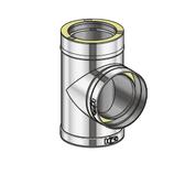 Poujoulat Trójnik 90° (z 2 obejmami łączącymi) fi 80mm