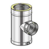 Poujoulat Trójnik Redukcyjny 90° (z 2 obejmami łączącymi) fi 80mm