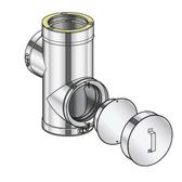 Poujoulat Trójnik 90° wyczystkowy (z 2 obejmami łączącymi) fi 80mm