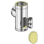 Poujoulat Trójnik 90° wyczystkowy z drzwiczkami (z 2 obejmami łączącymi) fi 100mm