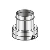 Poujoulat Złączka dwu/jednościenny ODWROTNA (z 1 obejmą łączącą) fi 80mm