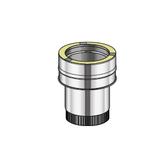Poujoulat Złączka dwuścienny/elastyczny PUSHIFT fi 80mm