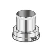 Poujoulat Zwężka kotłowa odwrotna (z 1 obejmą łączącą) fi 80mm