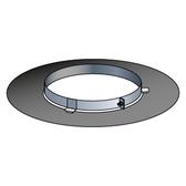 Poujoulat Rozeta niewentylowana z mocowaniem magnetycznym (biała) fi 80mm