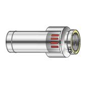Poujoulat złączka pionowa dwuścienny/koncentryczny 750mm fi 80mm