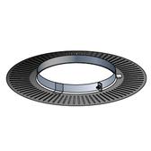 Poujoulat Rozeta wentylowana z mocowaniem magnetycznym (czarna) fi 80mm