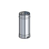 Poujoulat Element Prosty 250mm (z 1 obejmą łączącą) fi 80/130mm