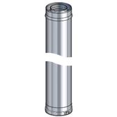 Poujoulat Element Prosty 1000mm (z 1 obejmą łączącą) fi 80/100mm