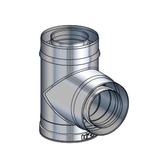 Poujoulat adapter trójnik dymowy koncentryczny (z 1 obejmą łączącą) fi 100/150mm