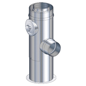 Poujoulat  adapter trójnikowy z regulowanym wspornikiem 25-40cm i wyczystką fi 80/130mm