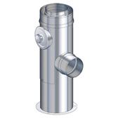Poujoulat wyczystka (z 1 obejmą łączącą) fi 100/150mm